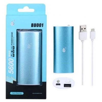 PLUS externí baterie BU001 se svítilnou, 5600 mAh, modrá