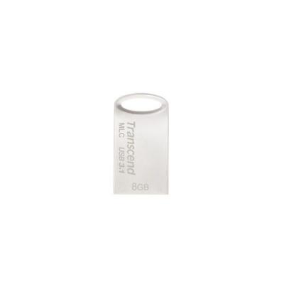 TRANSCEND Flash Disk 8GB JetFlash®720S, USB 3.1, MLC solution (R:110/W:25 MB/s) stříbná