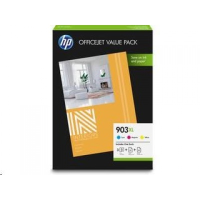 HP 903XL CMY Ink Cartridge OVP Pack, 1CC20AE